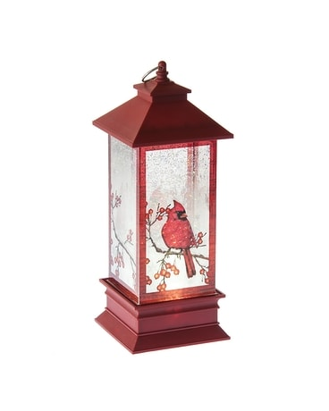 Lighted LED Shimmer Cardinal Lantern Gifts