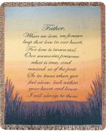 Tapestry Throw - Forever a Father Gifts