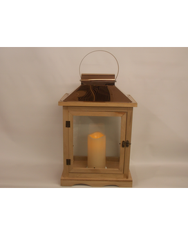 Memorial Lantern Large Brown Flower Arrangement