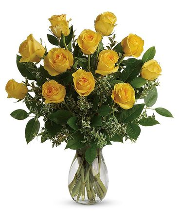 Dozen Yellow Roses Flowers