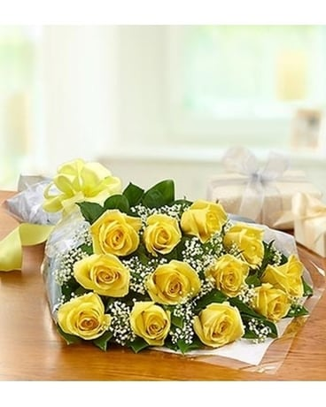 12 YELLOW ROSES PRESENTATION BOUQUET Bouquet