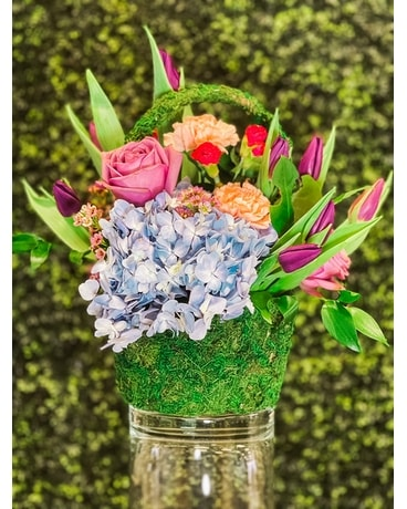 Spring Basket Flower Arrangement