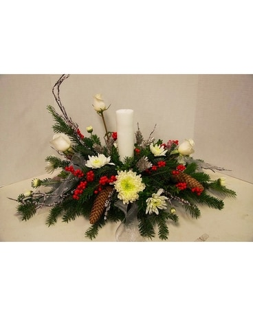 Winter's Glow Flower Arrangement