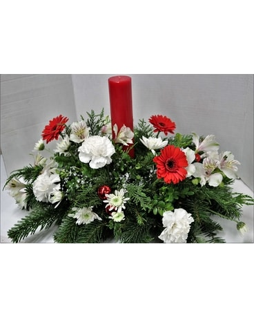Winter's Glow Deluxe Flower Arrangement