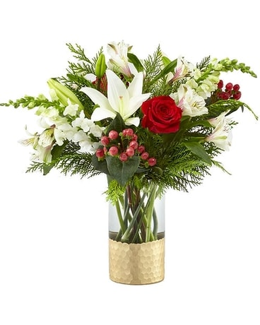 FTD GOLDEN HOLIDAY BOUQUET Flower Arrangement
