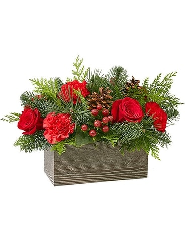 FTD CHRISTMAS CABIN BOUQUET Flower Arrangement