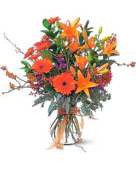 Halloween Harvest Flower Arrangement