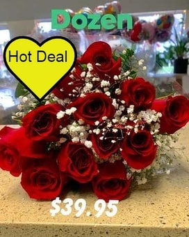 Wrapped Dozen Red Roses Flower Arrangement
