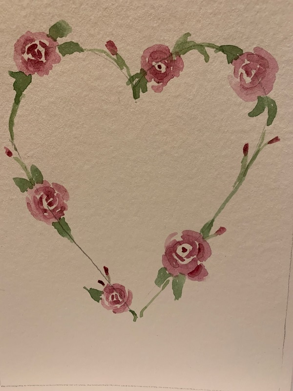Blooming Heart Card by Lori