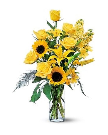 Blazing Sunshine Flower Arrangement