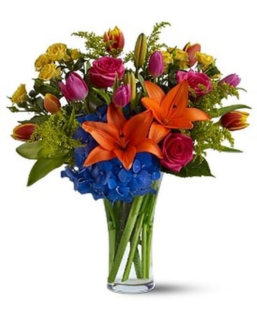 Burst of Color - by Aliso Viejo Florist Flower Arrangement