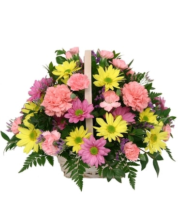 Bright and Beautiful Basket Arrangment Flower Arrangement