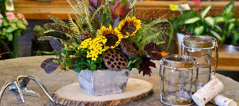 Your weekly flower arrangements will be customized just for you!