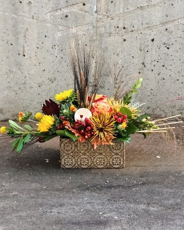 Thankful Heart Flower Arrangement