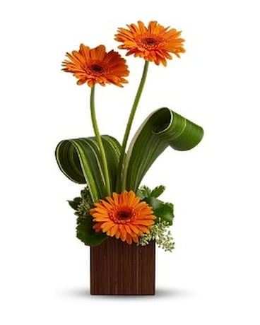 Teleflora's Bamboo Sunshine Flower Arrangement