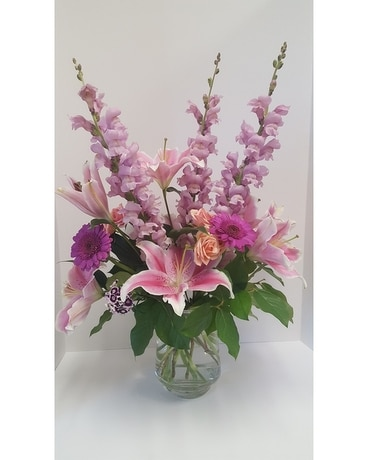 Pink It Up Flower Arrangement