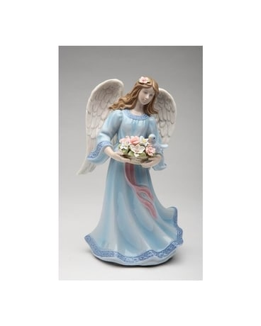 Angel With Flower Basket And Bird $55.00 Gifts