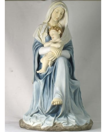 Madonna Holding Infant Jesus Sleeping $425.00 Gifts