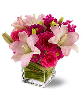 Teleflora's Posh Pinks Flower Arrangement