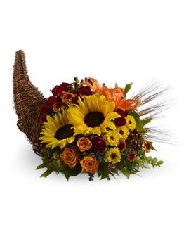 Heavenly Cornucopia Flower Arrangement