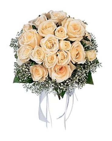 Hand Tied White Rose Nosegay In Gibsonia Pa Weischedel Florist Ghse