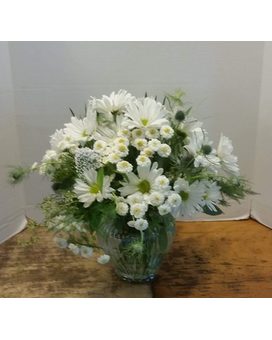 White Daisy Delight Flower Arrangement