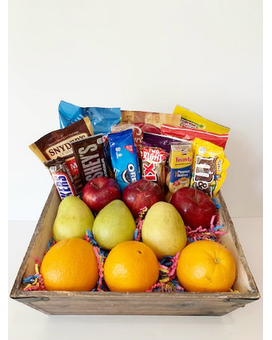 Fruit and Snack Square Gift Basket