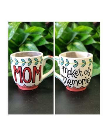 Maker of Memories Mug Flower Arrangement