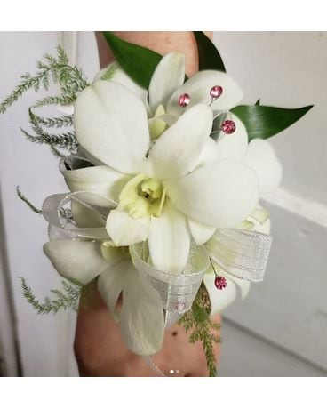 Dendrobium Orchids with Gem Detail Flower Arrangement