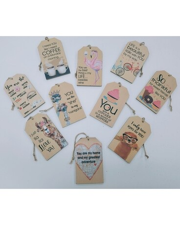 Ornamental Wooden Tags Gifts