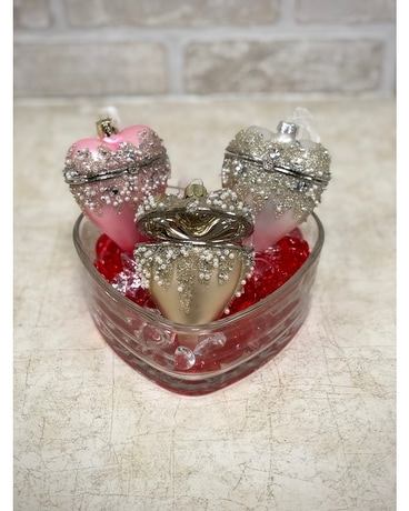 Crystal Heart Ornaments Gifts