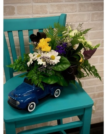 Kameo's Ford Pick up Bouquet Flower Arrangement