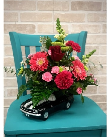 Kameo's Chevy Camero Bouquet Flower Arrangement