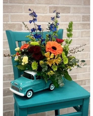 Kameo's Chevy Pickup Bouquet Flower Arrangement