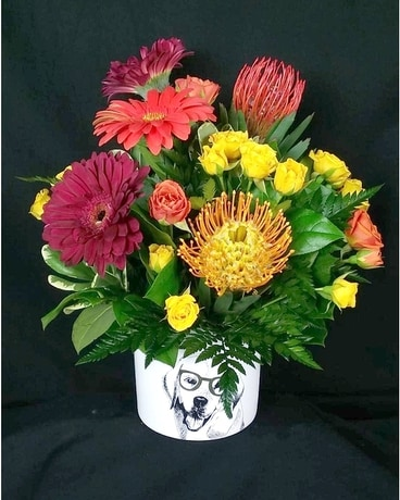 Puppy Love Flower Arrangement