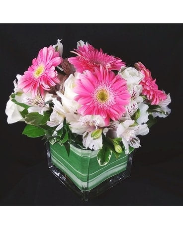 A Touch Of Pink Flower Arrangement