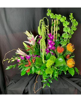 Tropical Wellwishes Flower Arrangement