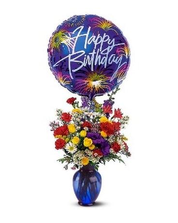 Birthday Fireworks Flower Arrangement