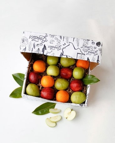 Sweet Sixteen Seasonal Fruit Box Gift Basket