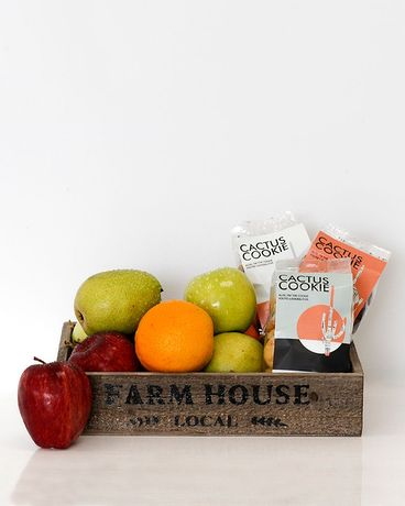 Farmstand Fruit & Cactus Cookie Trio Gift Basket