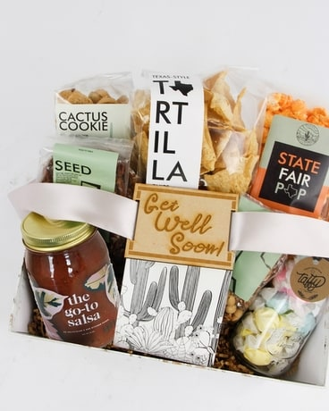 Texas Comfort Food Get Well Box Flower Arrangement
