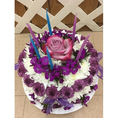Magnificent Floral Birthday Cake In Purcellville Va Purcellville Florist Personalised Birthday Cards Beptaeletsinfo