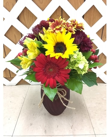Designers Choice Fall Mix Flower Arrangement