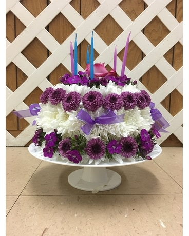Stupendous Floral Birthday Cake In Purcellville Va Purcellville Florist Personalised Birthday Cards Beptaeletsinfo