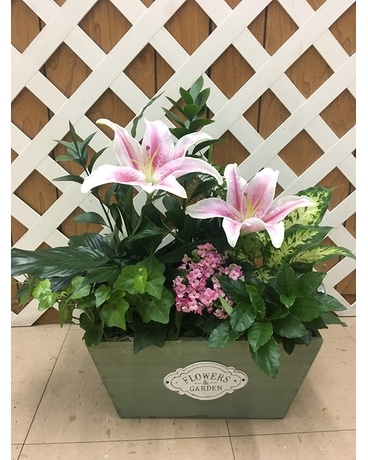 Planter Box Flower Arrangement