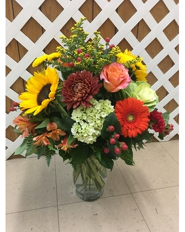 Fall Vase Flower Arrangement