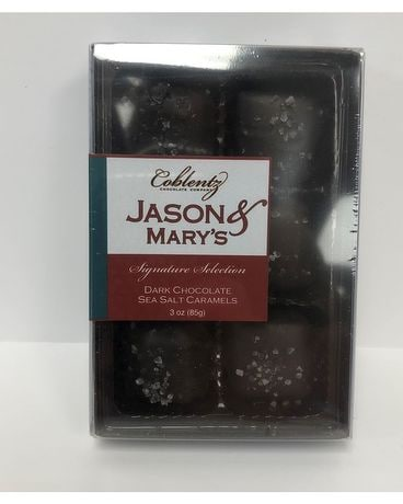 Jason & Mary's Dark Chocolate Sea Salt Caramels Gifts