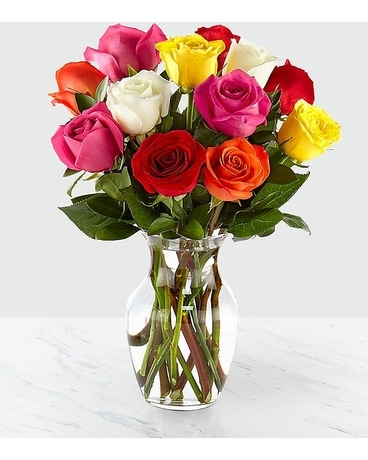 Mixed Roses Flower Arrangement