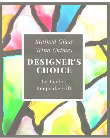 Designer's Choice Stained Glass Wind Chime