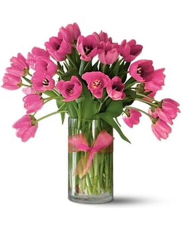 Teleflora's Precious Hot Pink Tulips - Premium Flower Arrangement